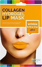 Perfumería y cosmética Mascarilla para labios de hidrogel con colágeno, oro 24K y ácido hialurónico - Beauty Face Collagen Hydrogel Lip Mask Wrinkle Smooth Effect