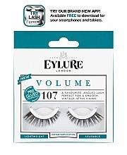 Perfumería y cosmética Pestañas postizas reutilizables con pegamento №107 - Eylure Pre-Glued Volume