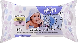 Perfumería y cosmética Toallitas húmedas con vitamina E, 64uds. - Bella Baby Happy Vit E & Allantoin