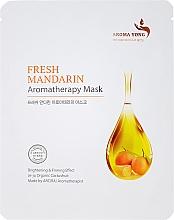 Perfumería y cosmética Mascarilla facial de tejido aromaterapia con extracto de mandarina fresca - Aroma Yong Aromatherapy Mask Fresh Mandarin