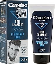 Perfumería y cosmética Champú anticanas con aceite de ricino y extracto de nogal - Delia Cameleo Men Against Grey Hair Shampoo