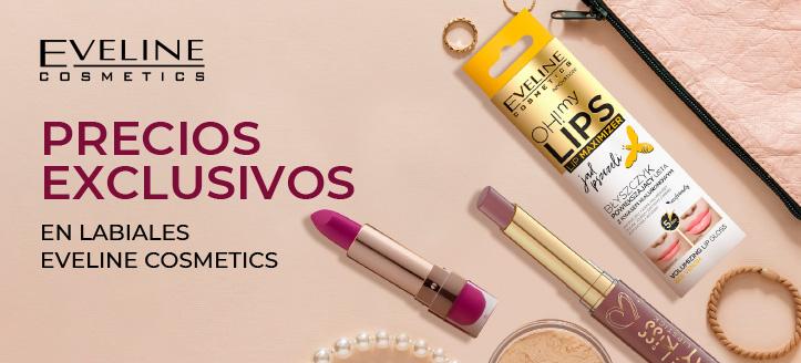 Rebajas en productos promocionales de la marca Eveline Cosmetics. Los precios indicados tienen el descuento aplicado