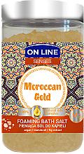 Perfumería y cosmética Sales de baño con extracto de higo y aceites de marula & argán - On Line Senses Bath Salt Moroccan Gold
