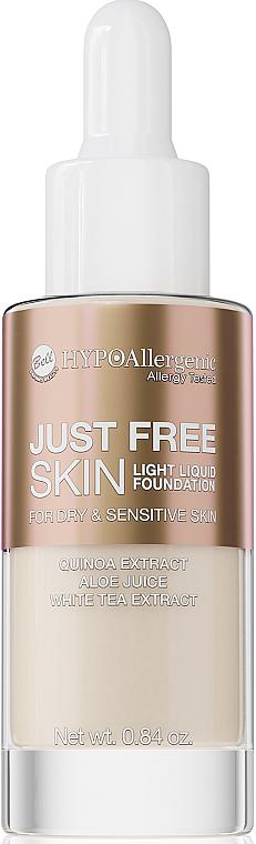 Base de maquillaje líquida con extracto de quinoa y té blanco para pieles sensibles - Bell Just Free Skin Light Liquid Foundation