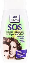 Perfumería y cosmética Champú con queratina, cafeína y aceite de germen de trigo - Bione Cosmetics SOS Shampoo with Anti Hair Loss Ingredients