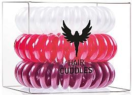 Perfumería y cosmética Gomas elásticas para cabello - HH Simonsen Hair Cuddles Red, Dark Red, Pearl