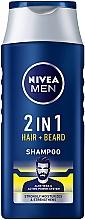 Perfumería y cosmética Champú para cabello y barba con jugo de aloe vera - NIVEA Men 2 in 1 Protect & Care Shampoo