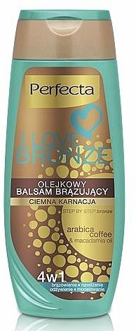 Bálsamo corporal autobronceador tono oscuro, con aceite de macadamia - Perfecta I Love Bronze Balm