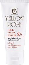 Perfumería y cosmética Crema facial solar antiedad e hidratante con ácido hialurónico SPF50 - Yellow Rose Cellular Sun Care Cream SPF-50