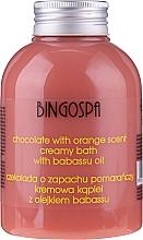 Perfumería y cosmética Crema de baño con aceite de babasú y aroma a chocolate y naranja - BingoSpa Creamy Chocolate Bath With Orange Oil