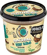 Perfumería y cosmética Exfoliante corporal nutritivo con aceite orgánico de macadamia, vegano - Planeta Organica Granola & Macadamia Body Scrub