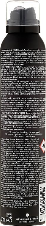Espuma para cabello con pantenol, fijación media - Syoss Air Dry Curl Foam Spray — imagen N2
