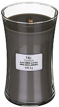 Perfumería y cosmética Vela aromática, ámbar negro y cítricos - WoodWick Hourglass Candle Black Amber And Citrus
