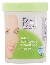 Perfumería y cosmética Discos desmaquillantes húmedos con jugo de aloe vera - Bel Premium Lotion Eye Make-Up Pads Aloe Vera