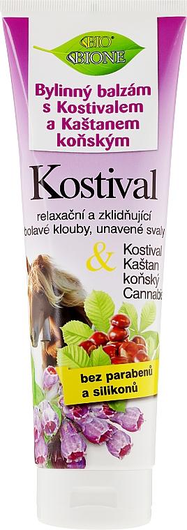 Bálsamo para pies con extracto de castaña, rábano picante y aceite de cañamo - Bione Cosmetics Cannabis Kostival Herbal Ointment with Horse Chestnut