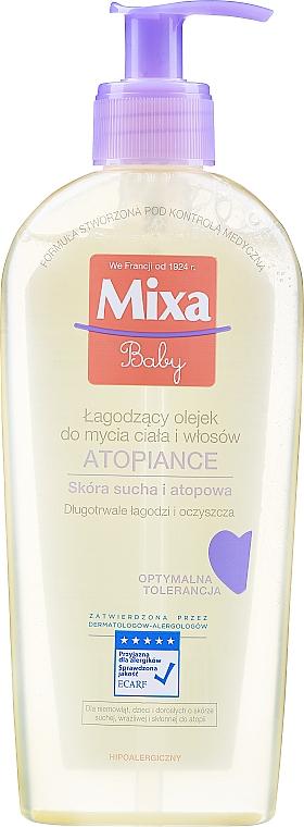 Aceite de ducha hipoalergénico para bebés, pieles secas y atópicas - Mixa Baby Atopiance Soothing Cleansing Oil For Body & Hair