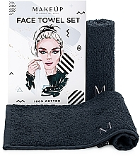 """Perfumería y cosmética Set toallas para rostro, negras """"MakeTravel"""" - Makeup Face Towel Set"""