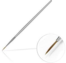 Perfumería y cosmética Pincel para decración de uñas, 10mm - Silcare Brush 02 Silver