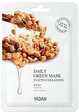 Perfumería y cosmética Mascarilla facial antiedad con colágeno vegetal y extracto de soja - Yadah Daily Green Mask Natto Collagen