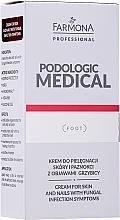 Perfumería y cosmética Crema antifúngica para cuículas y uñas con manteca de karité y alantoína - Farmona Professional Podologic Medical Cream For Skin With Fungal Infection Symptoms