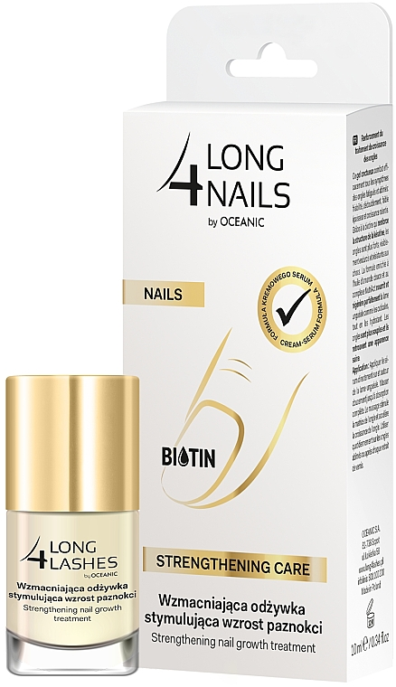 Sérum de uñas intensivo fortificante con aceite de almendras dulces - Long4Lashes Intensive Strenghtening Nail Serum — imagen N1