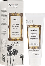 Perfumería y cosmética Espuma limpiadora para rostro y ojos con leche de burra orgánica - Sostar Face Wash with Donkey Milk