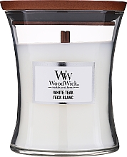 Perfumería y cosmética Vela aromática, teca blanca - WoodWick Hourglass Candle White Teak