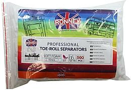 Perfumería y cosmética Separador de pedicura, 500 uds. - Ronney Professional Toe-Roll Sparators