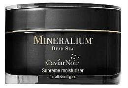 Perfumería y cosmética Crema facial con extracto de caviar negro y minerales del Mar Muerto - Mineralium Caviar Noir Supreme Moisturizer