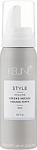 Perfumería y cosmética Mousse de cabello, fijación extra fuerte, №74 (formato viaje) - Keune Style Strong Mousse Travel Size