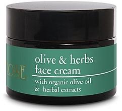 Perfumería y cosmética Crema facial con aceite orgánico de oliva y extracto de hierbas - Yellow Rose Olive & Herbs Face Cream