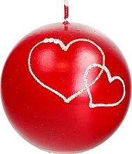 Perfumería y cosmética Vela decorativa en pelota roja 10cm - Artman Forever