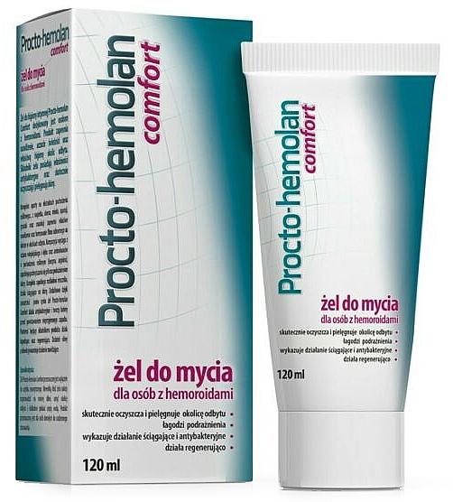 Gel para hemorroides con hamamelis y extractos de roble - Aflofarm Procto-Hemolan Comfort Cleaning Gel