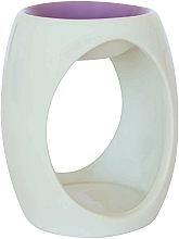 Perfumería y cosmética Lámpara aromática de cerámica, blanco con morado - Airpure