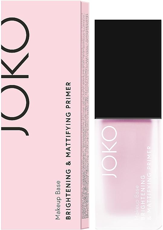 Prebase de maquillaje iluminadora y mate - Joko Brightening & Mattifying Primer