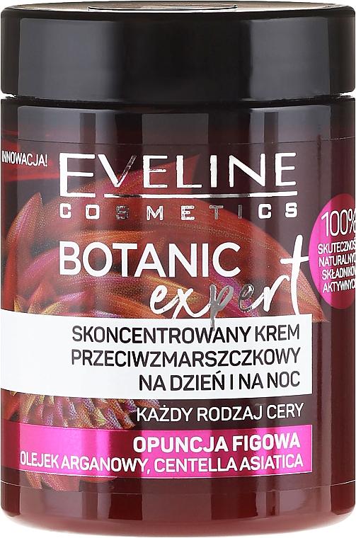 Crema facial con aceite de argán y extracto de nopal - Eveline Cosmetics Botanic Expert Concentrated Anti-wrinkle Day & Night Cream
