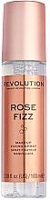Perfumería y cosmética Spray fijador de maquillaje, Rose Fizz - Makeup Revolution Precious Stone Rose Fizz Makeup Fixing Spray