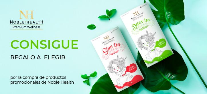 Por la compra de productos promocionales de la marca Noble Health recibirás un regalo a elegir