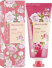 Perfumería y cosmética Crema de manos con extracto de pétalos de rosa - FarmStay Pink Flower Blooming Hand Cream Pink Rose