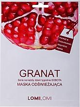 Perfumería y cosmética Mascarilla facial de tejido regeneradora con extracto de granada - LomiLomi Granat