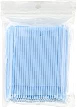 Perfumería y cosmética Micro cepillos para extensión y eliminación de pestañas, azul con cerdas blancas - Novalia Group
