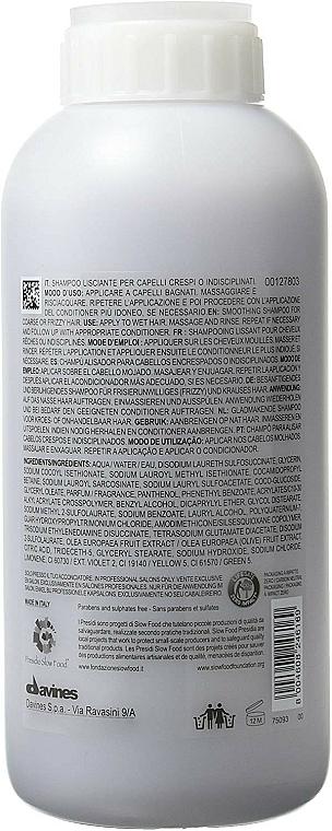 Champú alisante con extracto de oliva para cabello encrespado o rebelde - Davines Shampoo Lisciante Addolcente — imagen N2