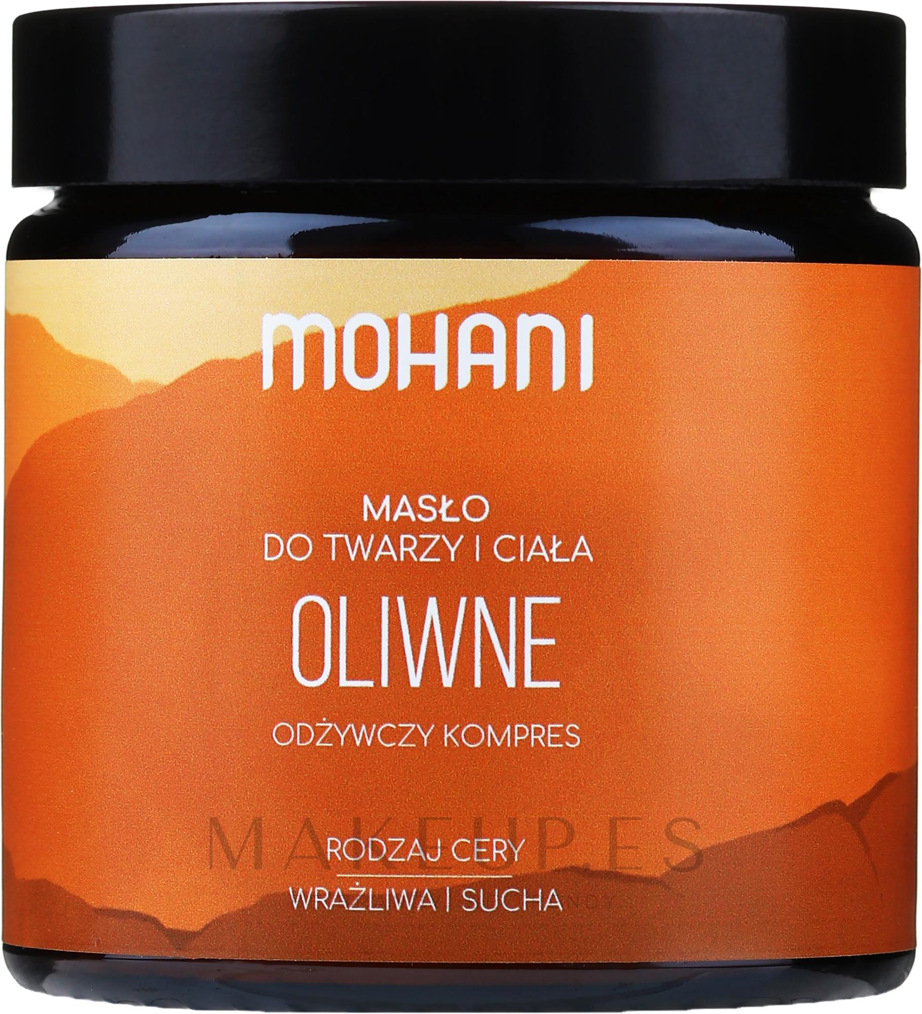 Manteca corporal y facial con oliva - Mohani Olive Rich Butter — imagen 100 g