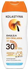 Perfumería y cosmética Emulsión protectora solar con pantenol, resistente al agua SPF30 - Kolastyna Suncare Emulsion SPF 30