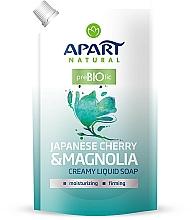Perfumería y cosmética Jabón líquido con cereza japonesa y magnolia (recarga doypack) - Apart Natural Japanese Cherry & Magnolia Soap