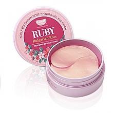 Perfumería y cosmética Parches para ojos con polvo de hidrogel con rubí y rosa de Bulgaria - Petitfee & Koelf Ruby & Bulgarian Rose Eye Patch