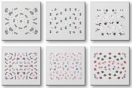 Perfumería y cosmética Set pegatinas para uñas, 42959 - Top Choice Nail Decorations Stickers Set