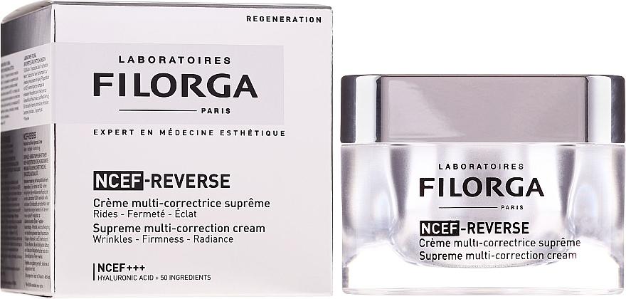 Crema facial correctora con ácido hialurónico, colágeno y vitaminas - Filorga NCTF-Reverse Supreme Regenerating Cream