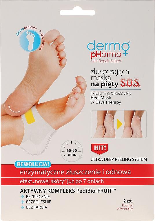 Mascarilla exfoliante enzimática para talones con ácido glicólico - Dermo Pharma Skin Repair Expert