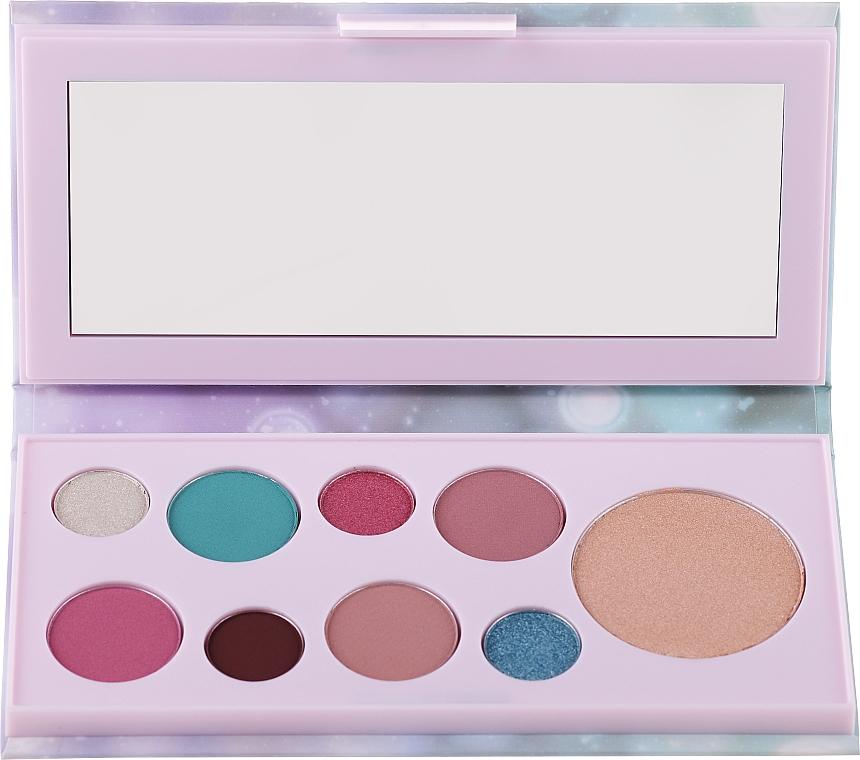 Paleta de sombras de ojos e iluminadores con espejo - Avon Mark Pearlesque Treasure Palette For Eyes & Face
